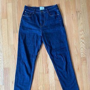 Sezane High Rise Slim Jeans